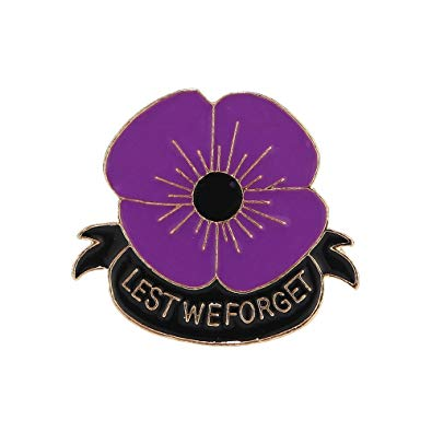 Purple Poppy Pin